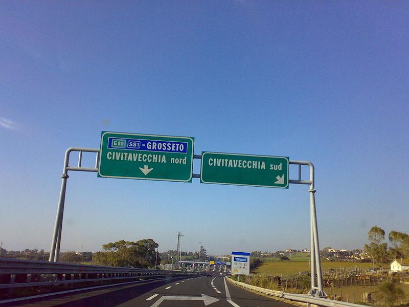 A12, Civitavecchia sud: uscita chiusa da giovedì alle 6 del 23 ottobre