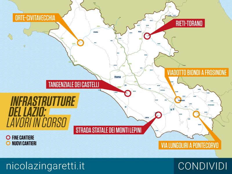 La Regione sblocca i cantieri, ecco la mappa dei lavori. Zingaretti: