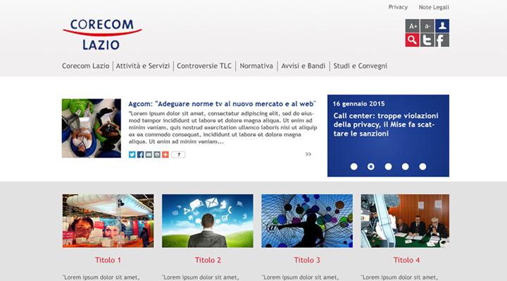 Web, Corecom Lazio: