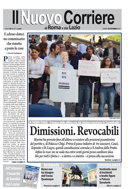 IL NUOVO CORRIERE DI ROMA E DEL LAZIO - SABATO 10 OTTOBRE 2015
