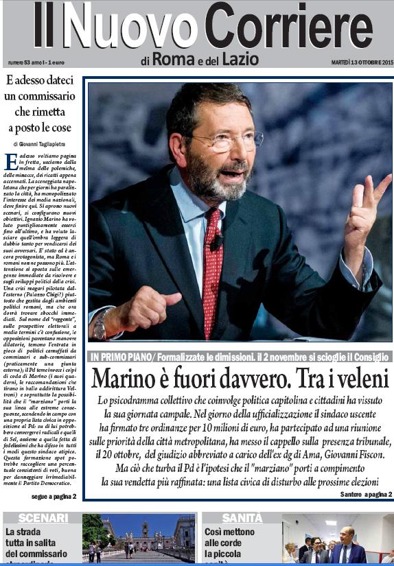 IL NUOVO CORRIERE DI ROMA E DEL LAZIO - MARTEDI' 13 OTTOBRE 2015