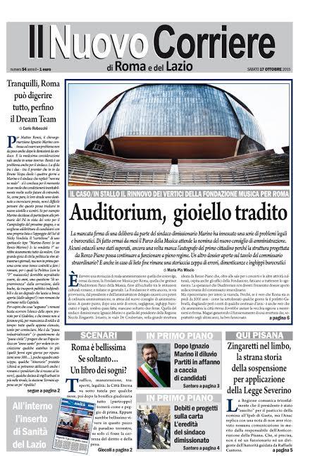IL NUOVO CORRIERE DI ROMA E DEL LAZIO - SABATO 17 OTTOBRE 2015