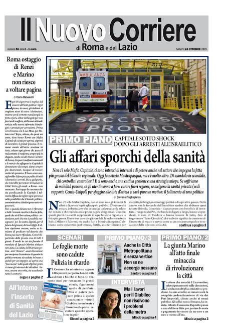IL NUOVO CORRIERE DI ROMA E DEL LAZIO - SABATO 24 OTTOBRE 2015
