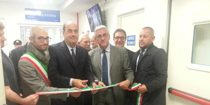Civitavecchia, Zingaretti apre il nuovo poliambulatorio