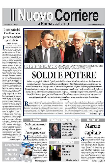 IL NUOVO CORRIERE DI ROMA E DEL LAZIO - SABATO 7 NOVEMBRE 2015