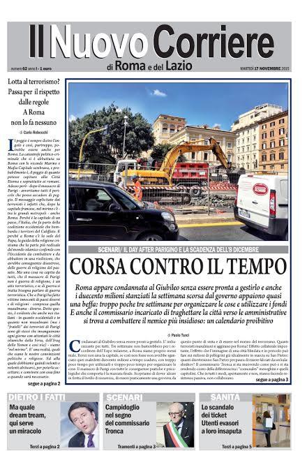 IL NUOVO CORRIERE DI ROMA E DEL LAZIO - MARTEDI' 17 NOVEMBRE 2015