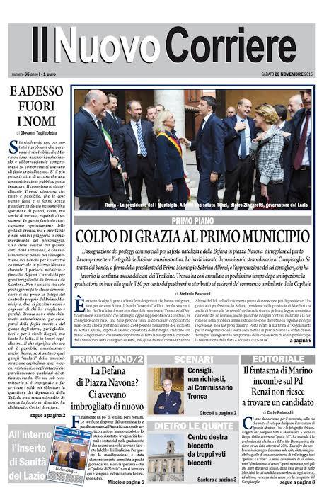 IL NUOVO CORRIERE DI ROMA E DEL LAZIO - SABATO 28 NOVEMBRE 2015