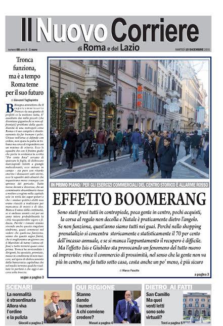 IL NUOVO CORRIERE DI ROMA E DEL LAZIO - MARTEDI' 15 DICEMBRE 2015
