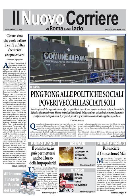 IL NUOVO CORRIERE DI ROMA E DEL LAZIO - SABATO 19 DICEMBRE 2015