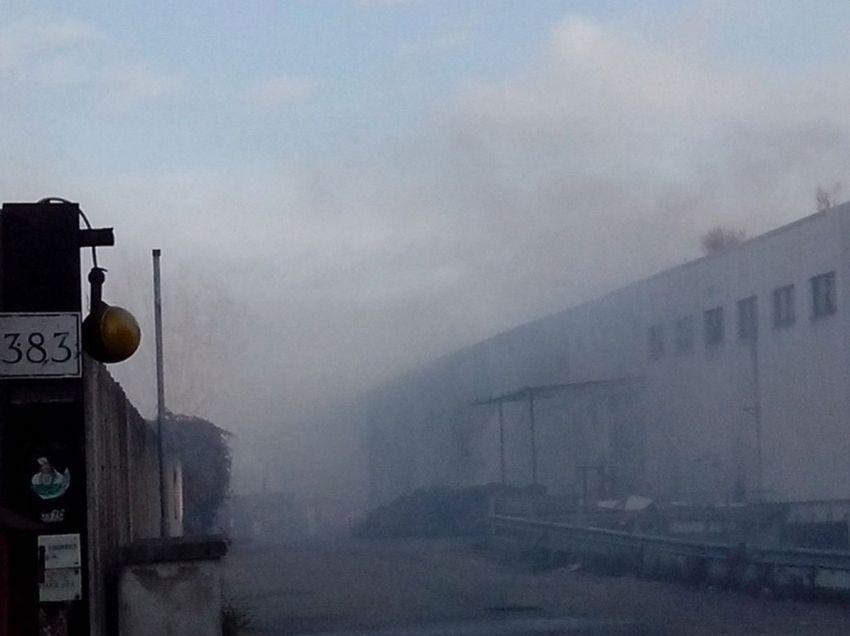 Rogo Collatina, ancora fumo e disagi: vigili del fuoco ancora al lavoro