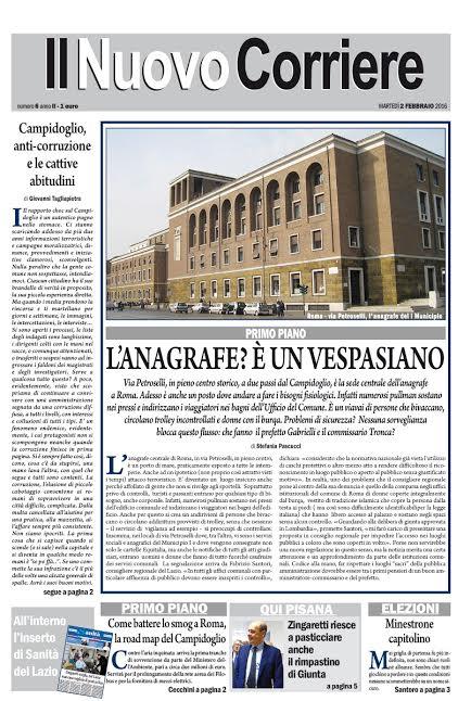 IL NUOVO CORRIERE DI ROMA  E DEL LAZIO - MARTEDI' 2 FEBBRAIO 2016