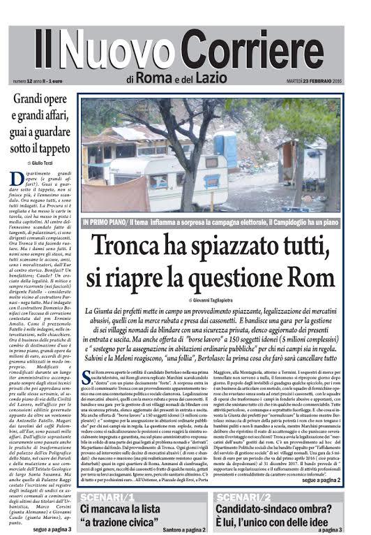 IL NUOVO CORRIERE DI ROMA E DEL LAZIO - MARTEDI' 23 FEBBRAIO 2016