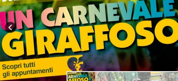 Carnevale giraffoso al Bioparco
