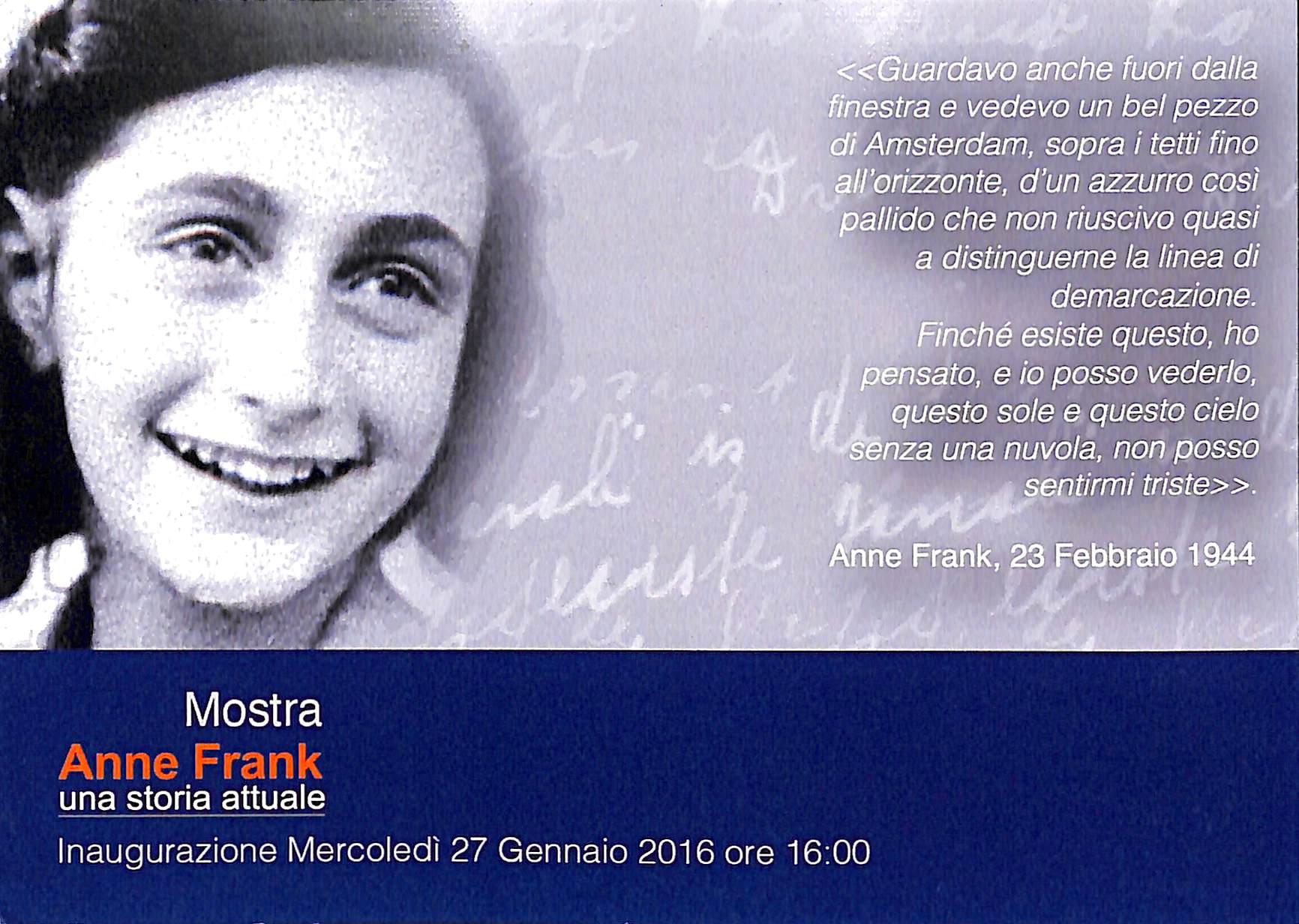 Shoah, prorogata la mostra in memoria di Anna Frank