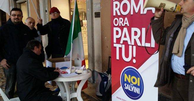 Centrodestra, aggressione ai gazebo Noi con Salvini. Storace ci crede, Pivetti si candida