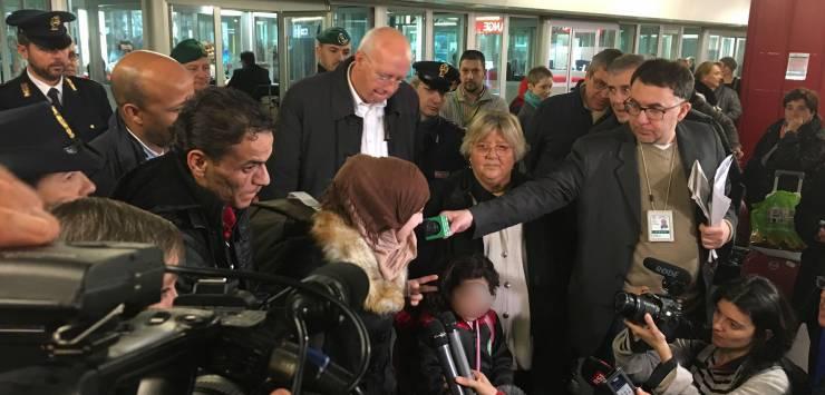 Fiumicino, rifugiati siriani arrivati grazie ai corridoi umanitari