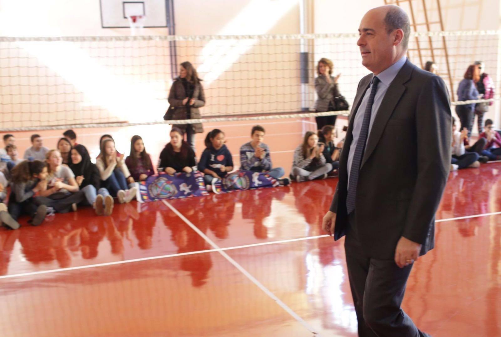 Testaccio, Zingaretti inaugura la palestra green: