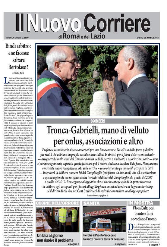 IL NUOVO CORRIERE DI ROMA E DEL LAZIO - SABATO 16 APRILE 2016