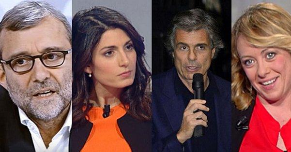 Primo confronto a tre per i candidati a sindaco. E su Fb Raggi (assente) esclama:
