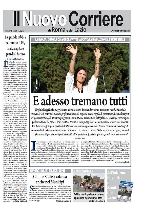 IL NUOVO CORRIERE DI ROMA E DEL LAZIO - MARTEDI' 21 GIUGNO 2016
