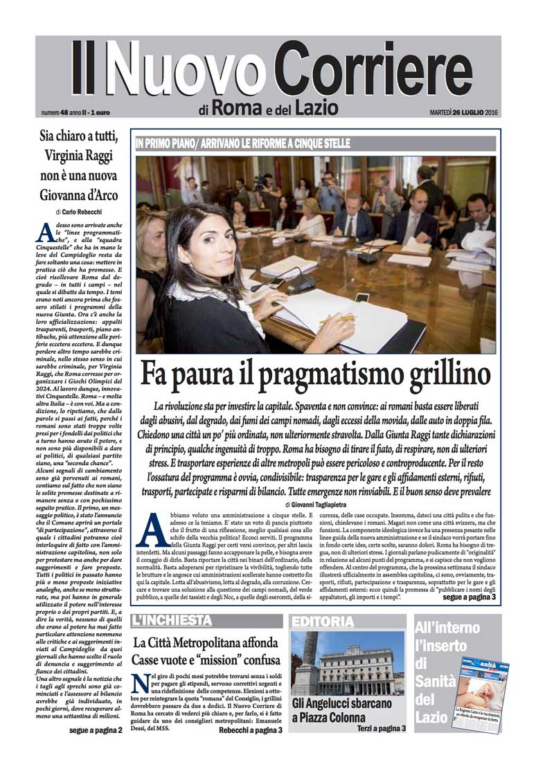 Il Nuovo Corriere di Roma – Martedì 26 Luglio 2016
