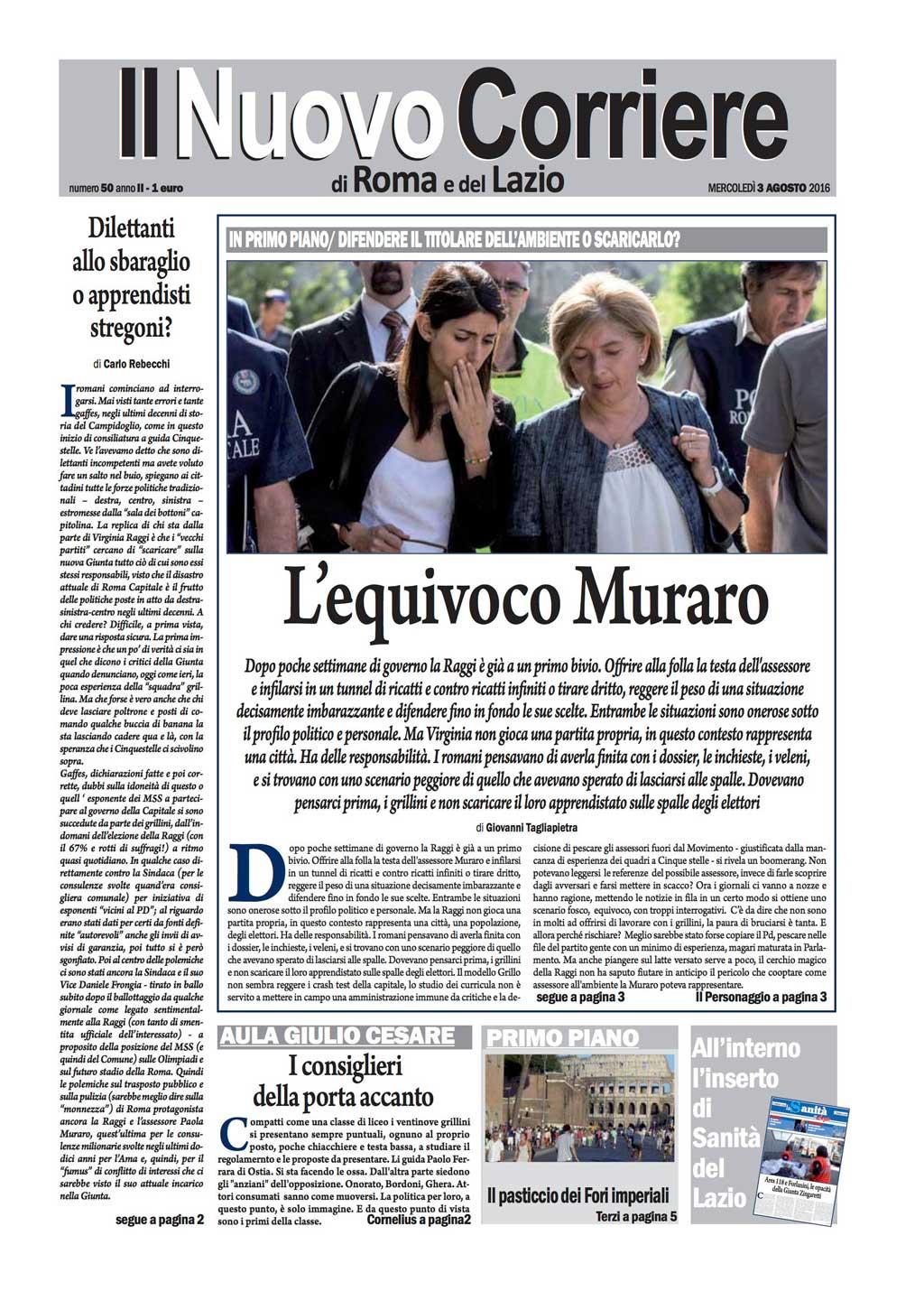 Il Nuovo Corriere di Roma – Mercoledì 3 Agosto 2016
