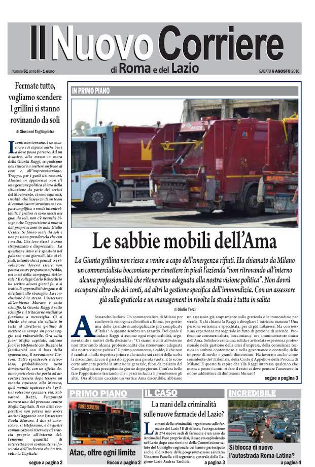 Il Nuovo Corriere di Roma e del Lazio - Sabato 6 Agosto 2016