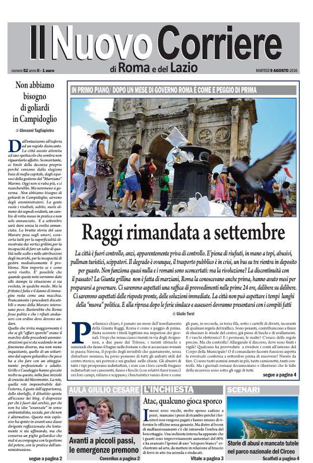 Il Nuovo Corriere di Roma e del Lazio - Martedì 9 Agosto 2016
