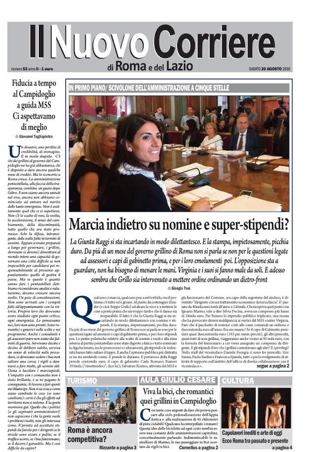 IL NUOVO CORRIERE DI ROMA E DEL LAZIO - Sabato 20 Agosto 2016