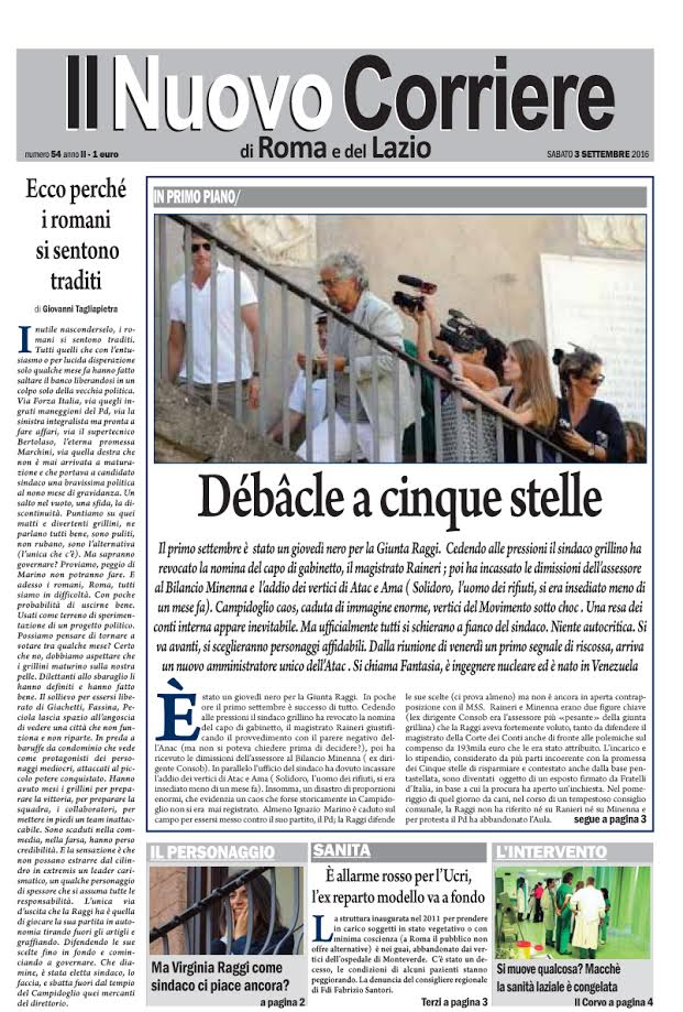 Il Nuovo Corriere di Roma e del Lazio - Sabato 3 Settembre 2016