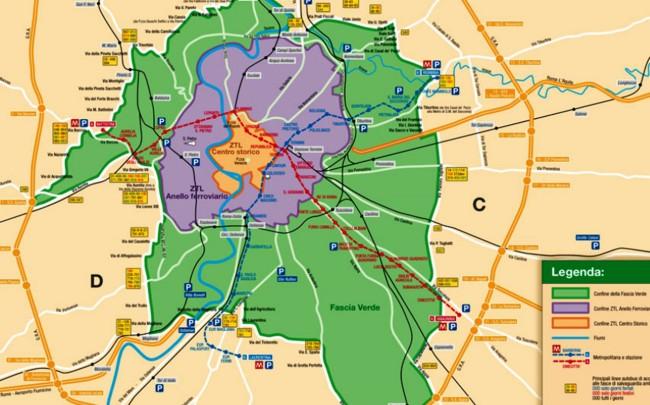 Cartina Della Fascia Verde A Roma.Roma In Vigore Il Nuovo Piano Traffico Dal 1 Novembre Rischio Stop Migliaia Di Veicoli Il Nuovo Corriere Di Roma E Del Lazio