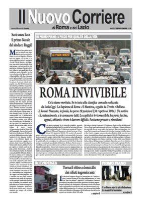 Il Nuovo Corriere di Roma e del Lazio n. 75 – Anno II – martedì 29 novembre 2016