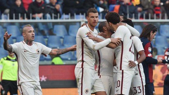 Genoa-Roma 0-1, un autogol di Izzo tiene in corsa i giallorossi