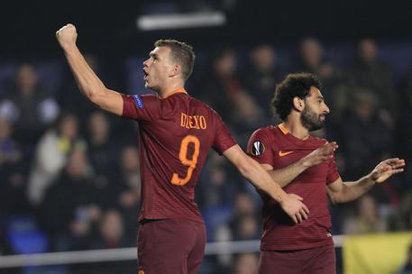 Europa League: Villarreal Roma 0-4, tripletta Dzeko