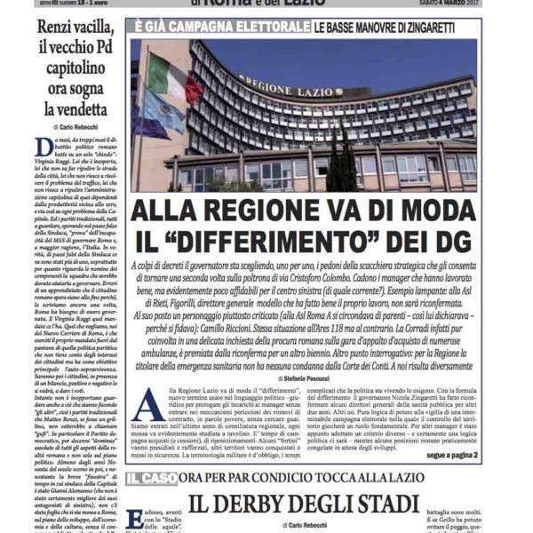 Il Nuovo Corriere n.15 del 4 marzo 2017