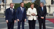 TRATTATI DI ROMA<br>I 27 capi di Stato in Campidoglio