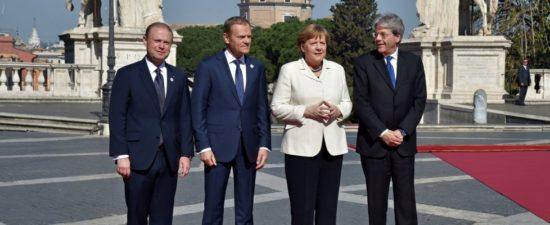 TRATTATI DI ROMAI 27 capi di Stato in Campidoglio