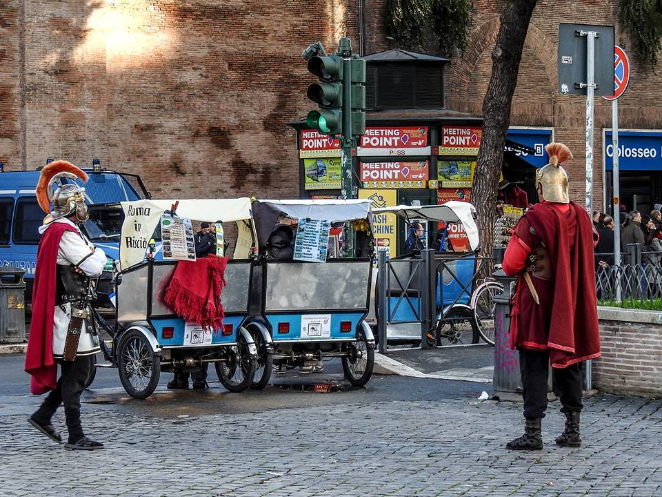 La strana guerra contro centurioni e risciò