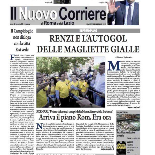 Il Nuovo Corriere n.35 del 16 maggio 2017