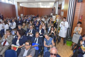 Roma - Centro congressi Lazzaro Spallanzani, la sala riempita da medici e operatori sanitari