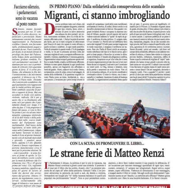 Cronache nazionali n.59 del 8 agosto 2017