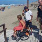 SABAUDIA - Scivoli e assistenza. Le dune aprono ai disabili