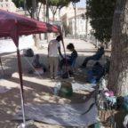 MIGRANTIControlli e presidio in piazza Madonna di Loreto