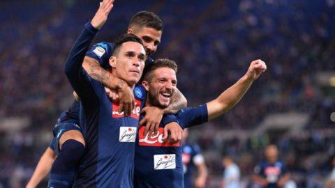 Il Napoli ribalta la Lazio all'Olimpico