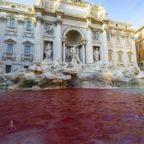 Fontana di Trevi imbrattata di vernice: nuovo blitz di Graziano Cecchini