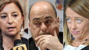 lombardi zingaretti meloni elezioni regionali lazio 2018-3