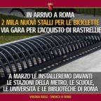 VIABILITA' - Raggi: In arrivo 2mila stalli per biciclette