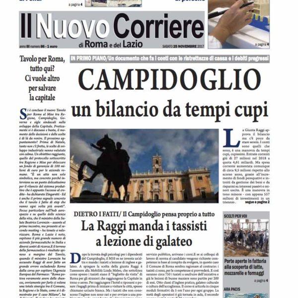 Il Nuovo Corriere n.86 del 25 novembre 2017