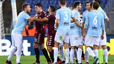 Lazio-Torino 1-3: Immobile, rigore negato e rosso con la Var