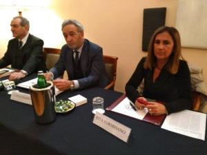 Roma, da sinistra Walter Santilli, Carlo Damiani, Rita Formisano in conferenza stampa sul caso esplosivo della riabilitazione del Lazio